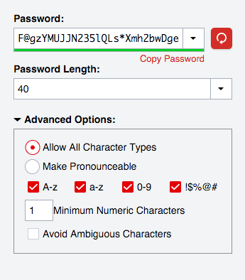 Generated strong password not strong enough